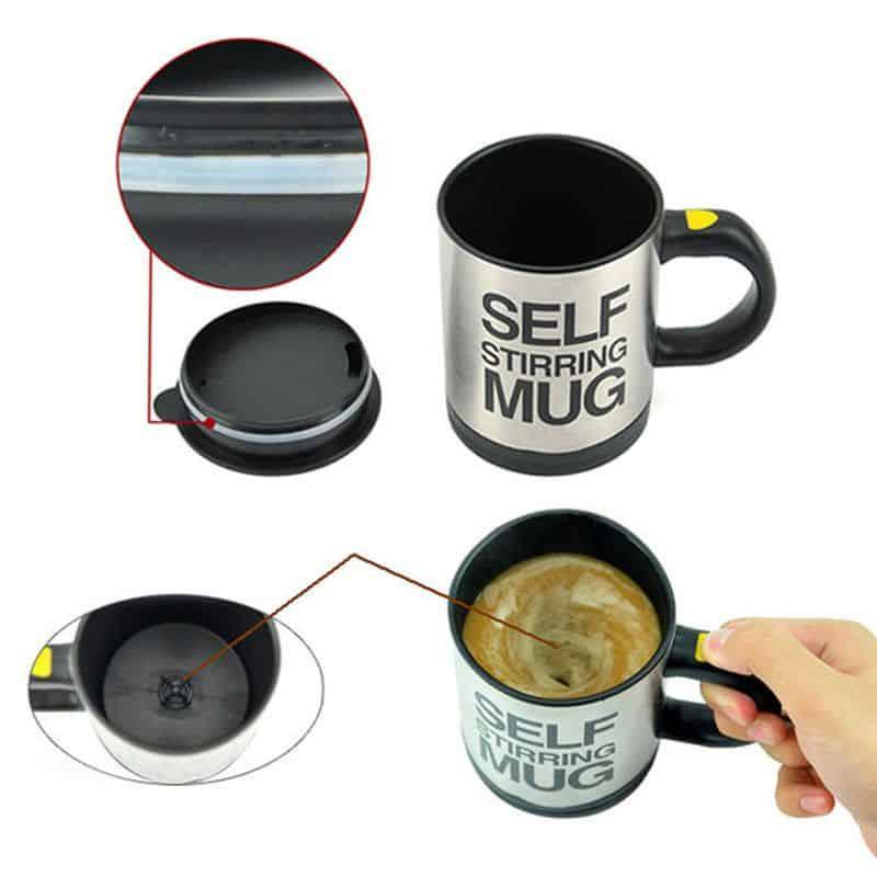 cana cafea cu amestecare automata
