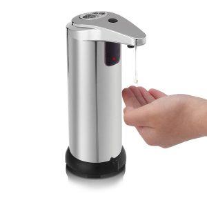 dispenser metalic pentru sapun lichid