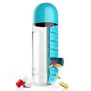 sticla cu organizator de pastile integrat