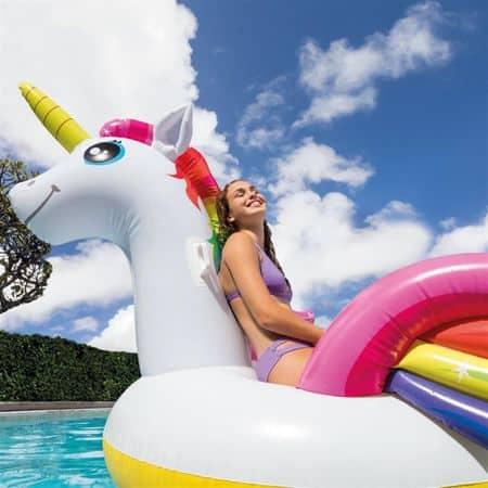 saltea gonflabila mega unicorn white 1