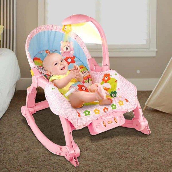 balansoar bebe cu lampa si carusel integrat 1