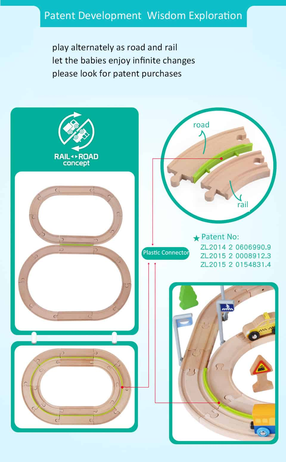 set de constructietren din lemn cu figurine 6