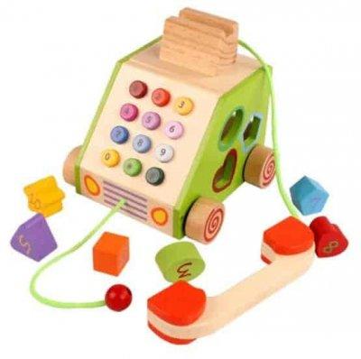 telefon din lemn