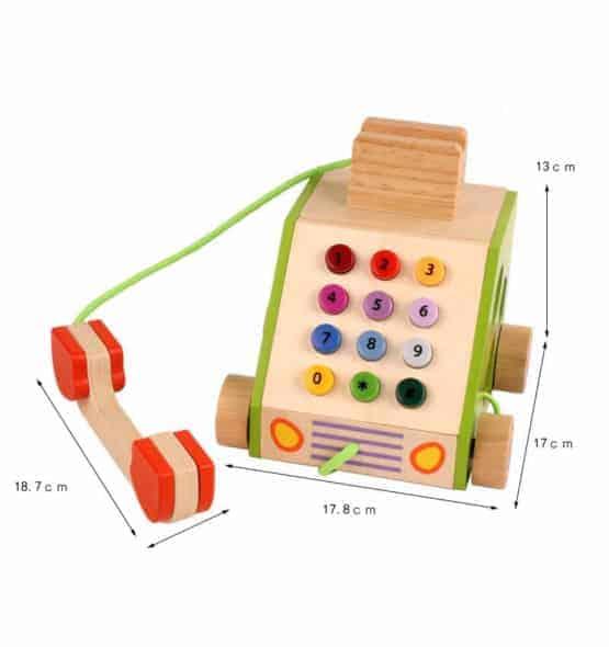 telefon din lemn jucarie de tras4