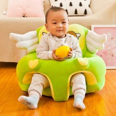 fotoliu din plus bebe verde