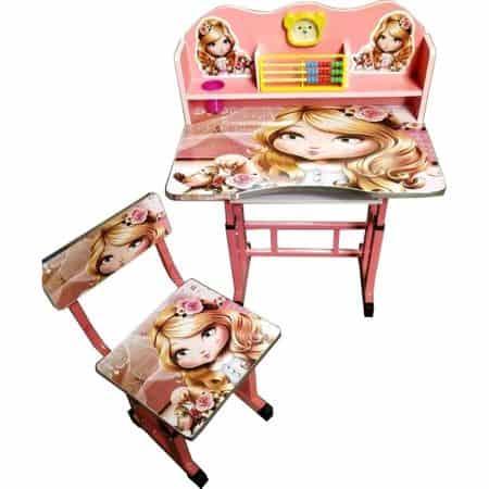 birou copii din mdf cu jucarii interactive roz princess