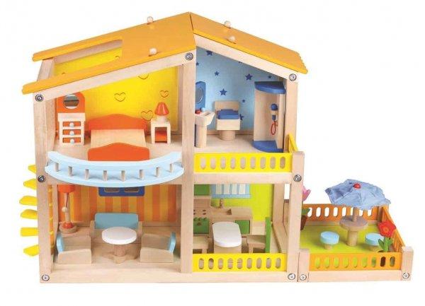 casuta papusi din lemn cu mobilier my pretty villa2