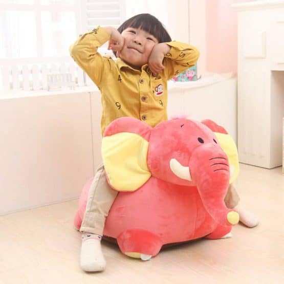 elefant roz jucarie calarit bebe2