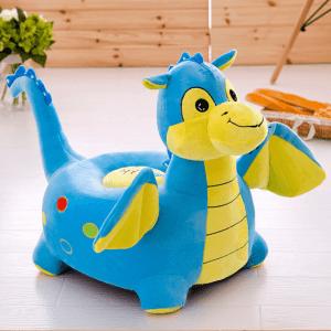 fotoliu de plus dragon albastru