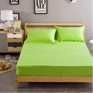 husa de pat verde