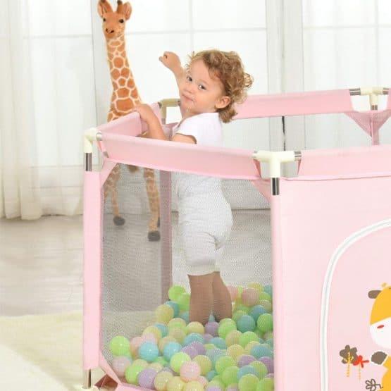 tarc de joaca cu cos de baschet si bile girafa3