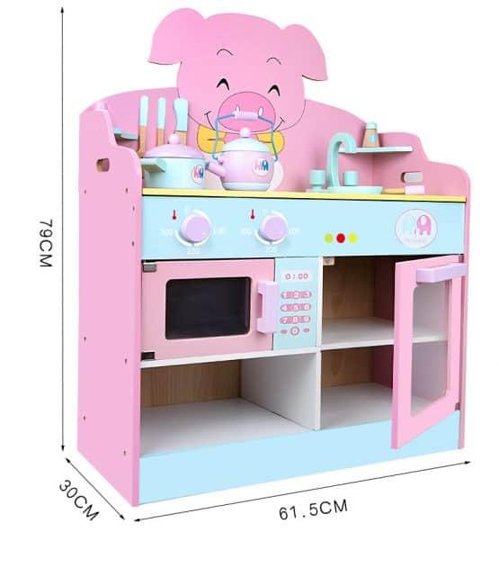 bucatarie de jucarie din lemn piglet kitchen2