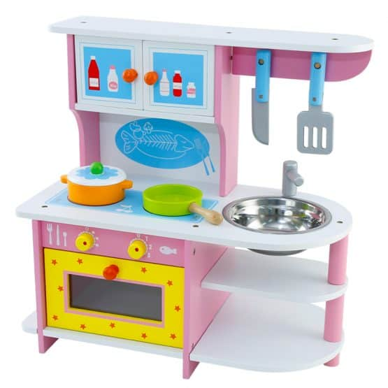 bucatarie din lemn pink gas stove