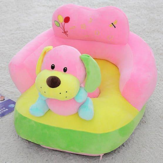 fotoliu plus bebe cu spatar catelusul roz bleu baby l1