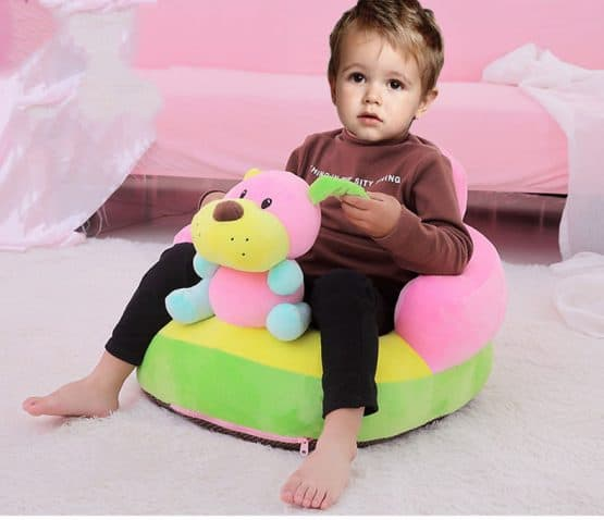 fotoliu plus bebe cu spatar catelusul roz bleu baby l2
