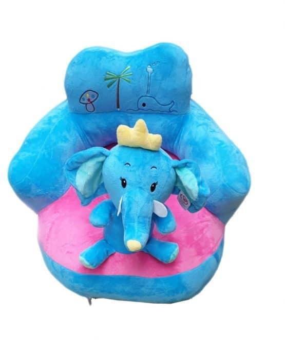 fotoliu plus bebe cu spatar elefantel bleu