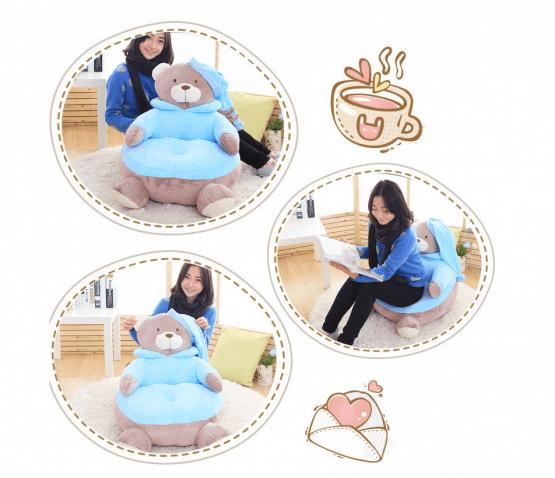 fotoliu plus ursul teddy bleu3