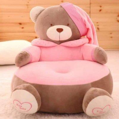 fotoliu din plus ursuletul roz