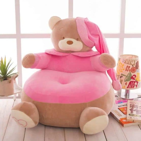 fotoliu plus ursul teddy roz2
