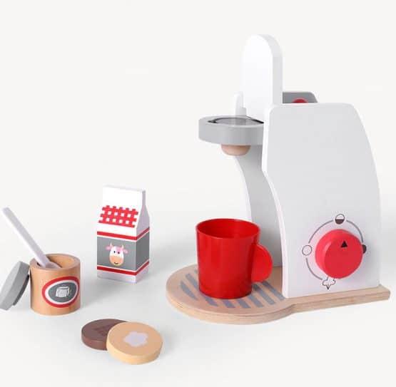 jucarie expresor de cafea din lemn