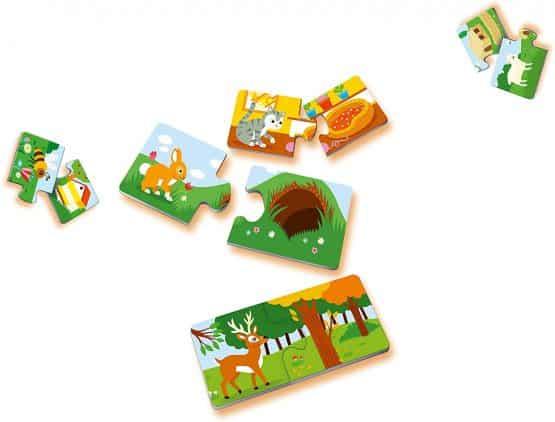 puzzle carton copii doua piese unde traiesc animalele2