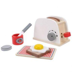 jucarie toaster din lemn