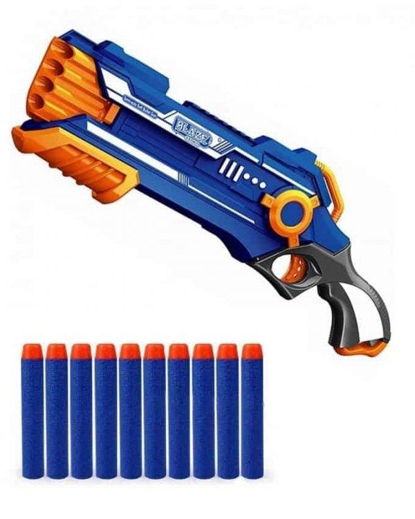 arma de jucarie semi automata cu gloante din burete 1
