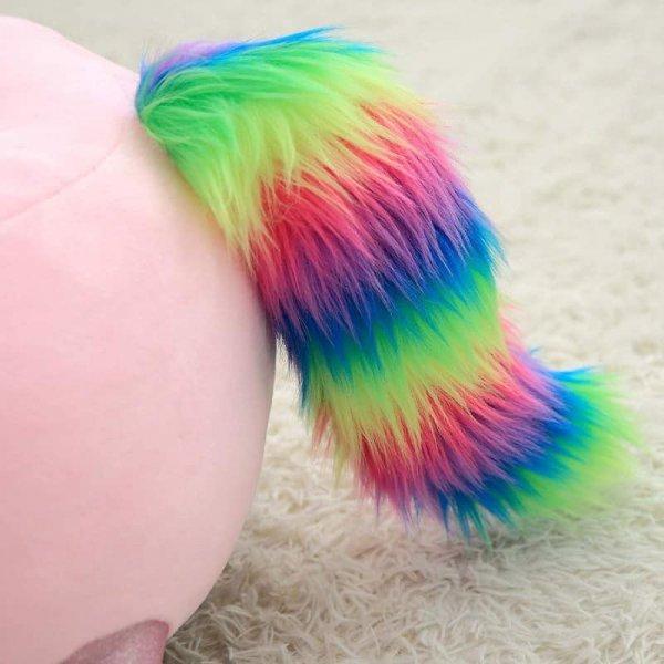 fotoliu din plus unicorn colorat roz 1