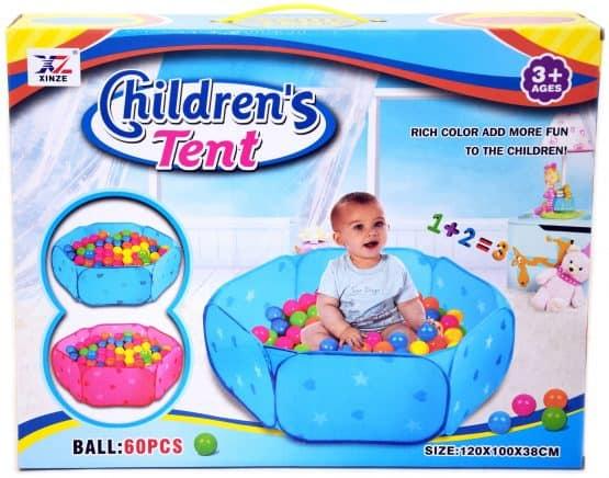 piscina cu bile 60 bile colorate copii 1