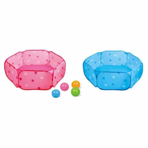 piscina cu bile 60 bile colorate copii 4