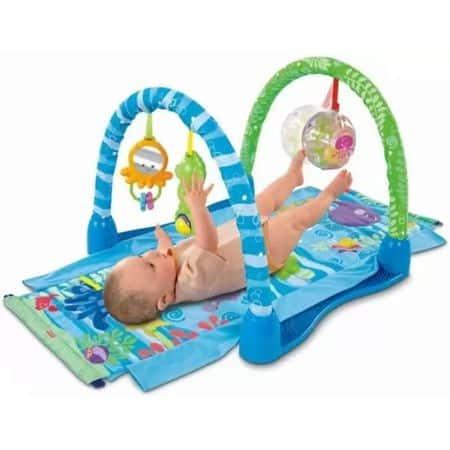 saltea de joaca pentru bebelusi 3in1 2