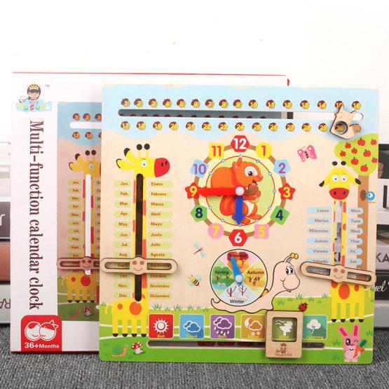 calendar lemn ceas veverita5