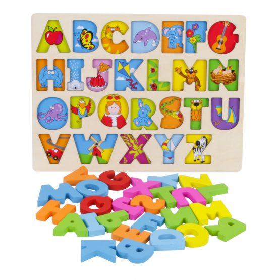 puzzle lemn alfabet si animale onshine2