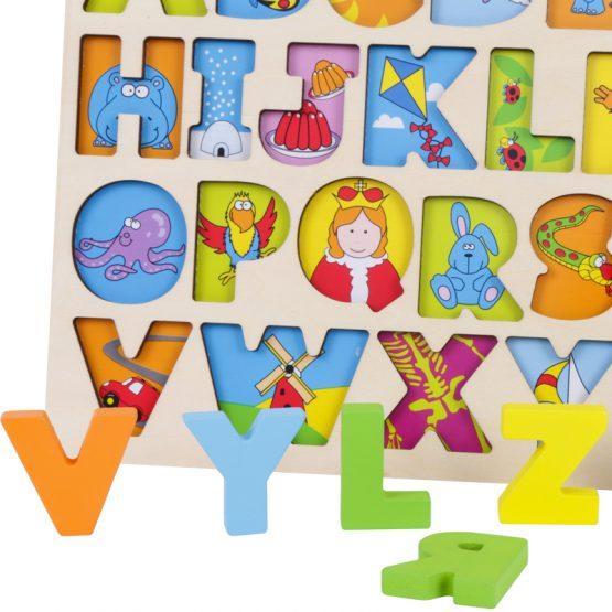 puzzle lemn alfabet si animale onshine4