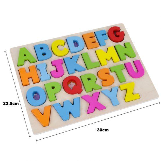 puzzle lemn alfabet si animale onshine5