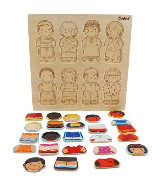 puzzle lemn rasele umane onshine2