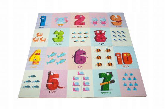 covoras de joaca puzzle pentru bebe spuma cifre animale4