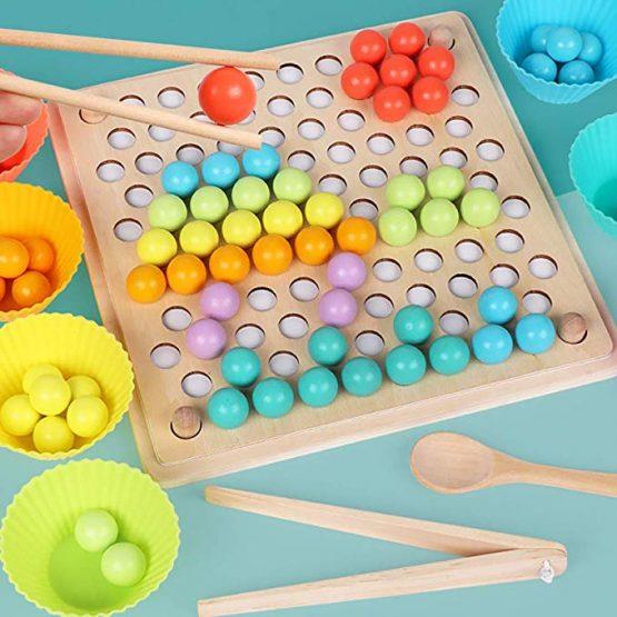 joc montessori indemanare si asociere culori ham bebe2