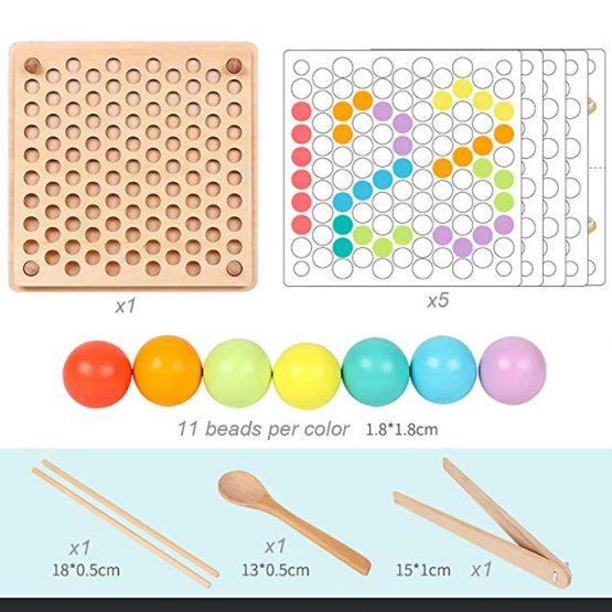 joc montessori indemanare si asociere culori ham bebe5