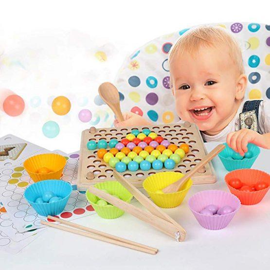 joc montessori indemanare si asociere culori ham bebe6