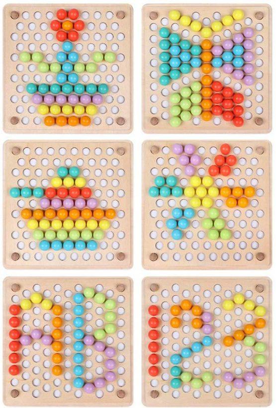 joc montessori indemanare si asociere culori ham bebe8