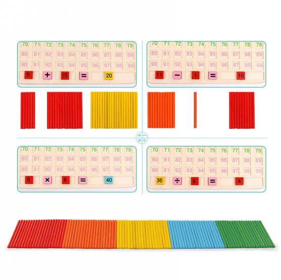 joc montessori matematica inmultiri impartiri cu betisoare3