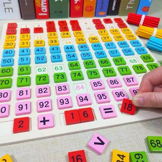 joc montessori matematica inmultiri impartiri cu betisoare7