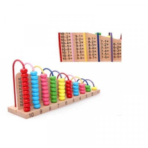 abac educativ din lemn operatiuni matematice 2