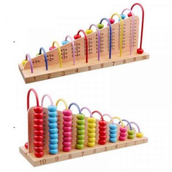 abac educativ din lemn operatiuni matematice 3