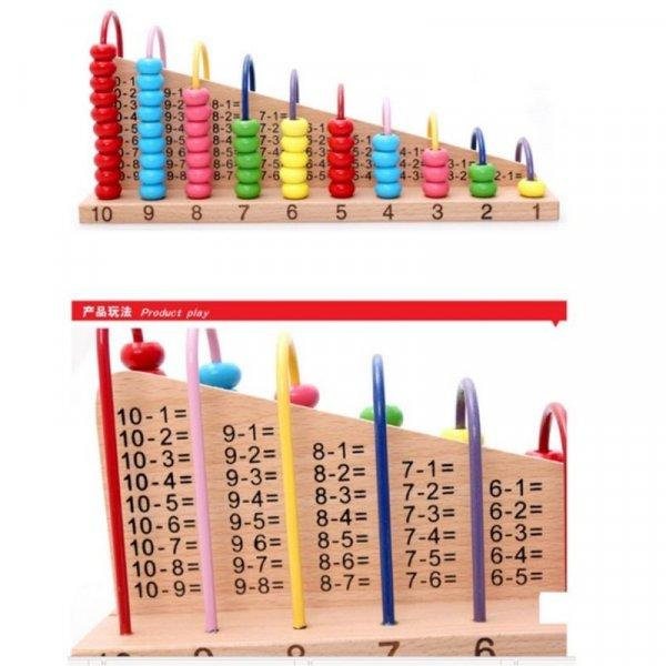 abac educativ din lemn operatiuni matematice 4