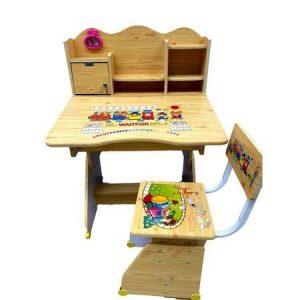 birou copii din lemn