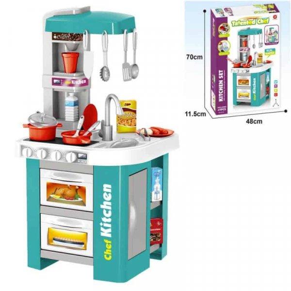 bucatarie de jucarie cu accesorii pentru copii happy kitchen 2