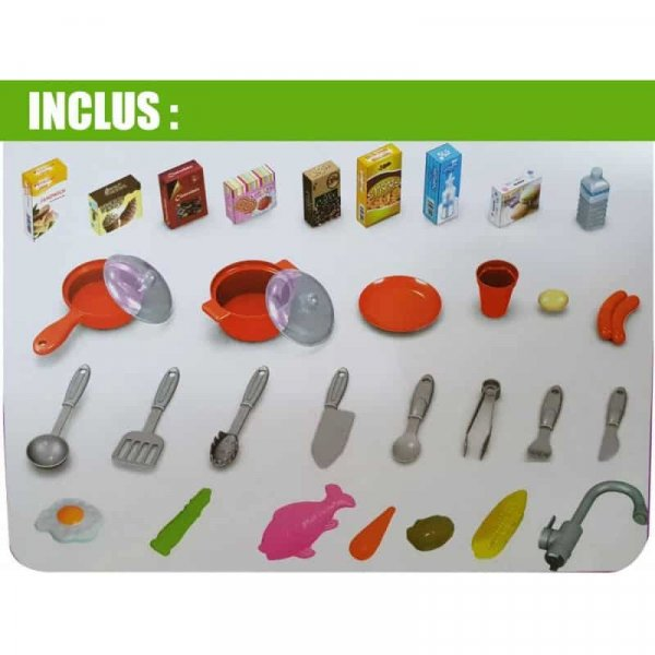 bucatarie de jucarie cu accesorii pentru copii happy kitchen 3