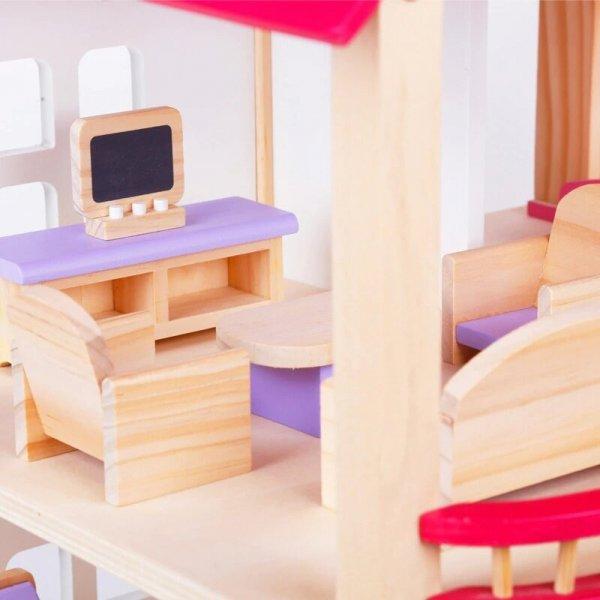 casa de papusi din lemn mobilier inclus 2